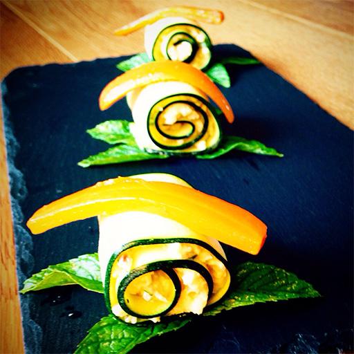 Roll di zucchine con miglio