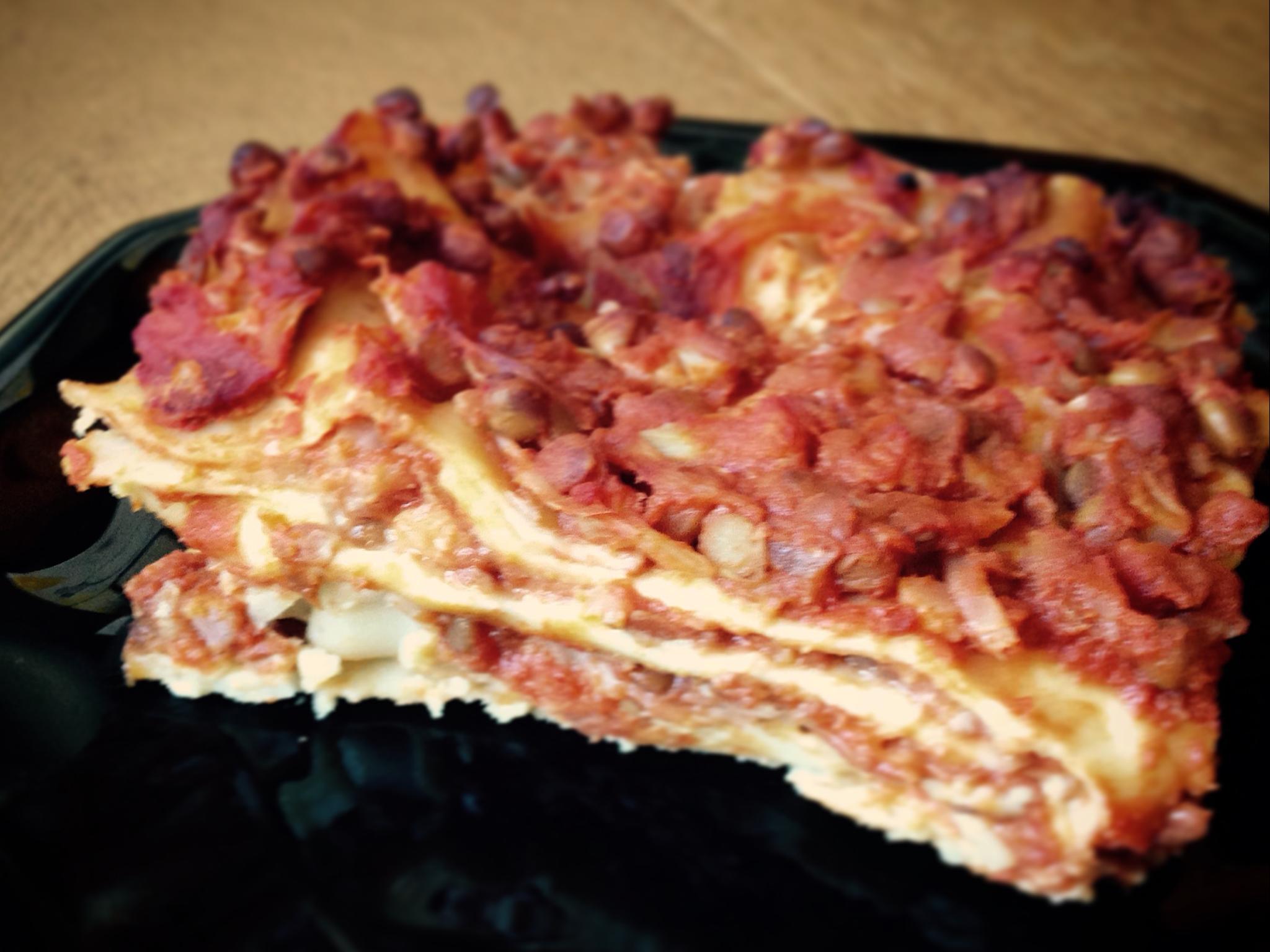 Lasagne Veg con besciamella di ceci