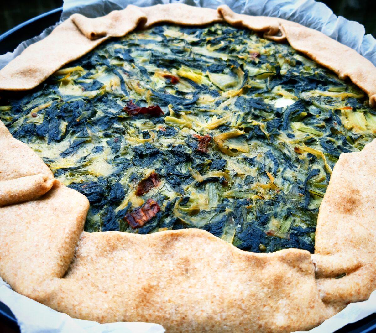 Torta salata Erbette, Cipolla e Pomodorini essiccati