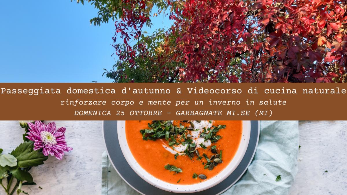 PASSEGGIATA DOMESTICA D'AUTUNNO & VIDEO CORSO DI CUCINA NATURALE PER RINFORZARE GLI ORGANI