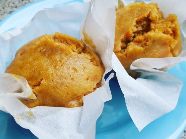 muffin alle carote cotti al vapore